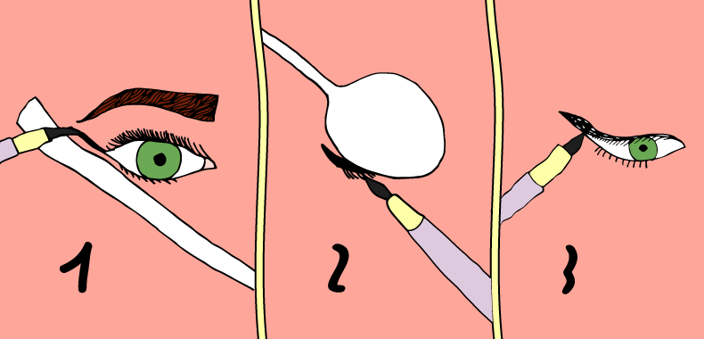 Mettere eyeliner con cucchiaio