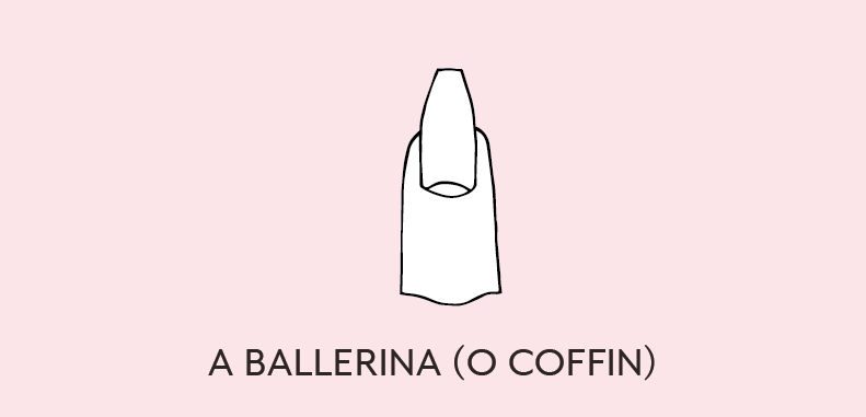 unghie a ballerina