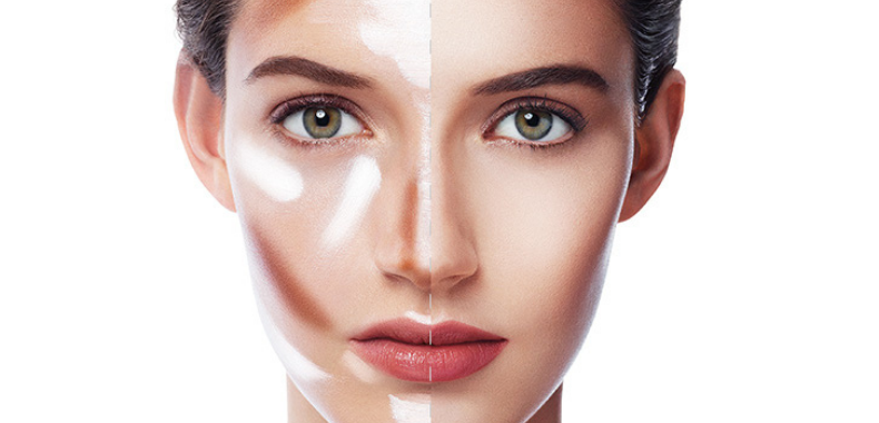 contouring viso linee guida foto