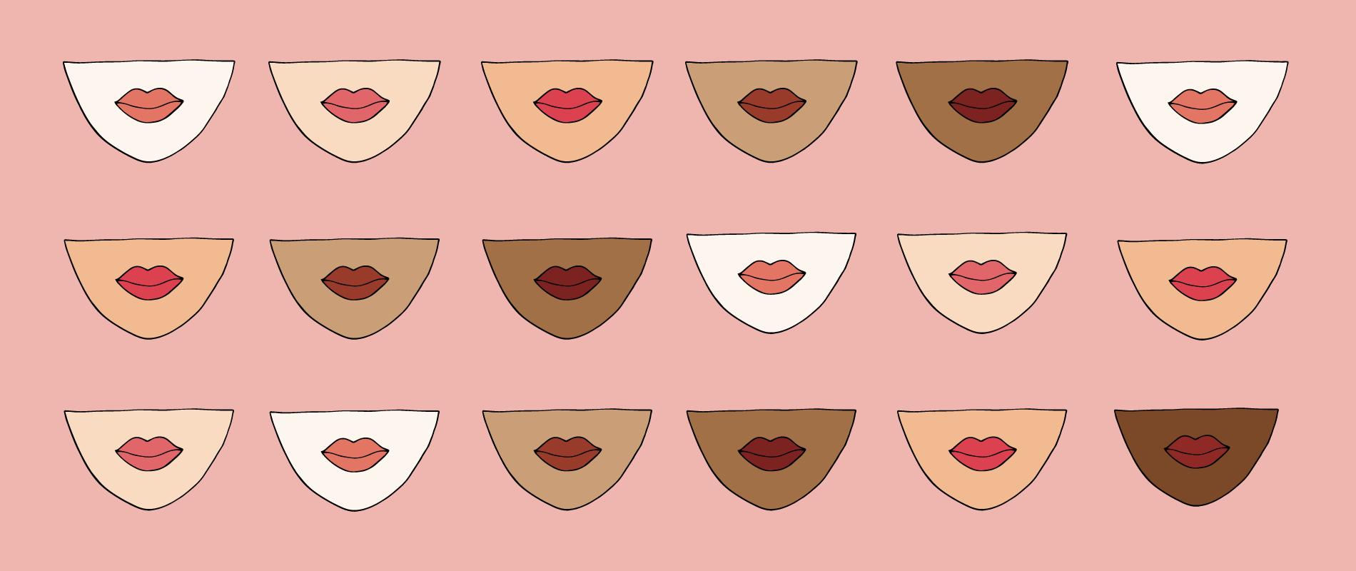 Delicato Colore Viola Pallido come scegliere il rossetto in base alla carnagione