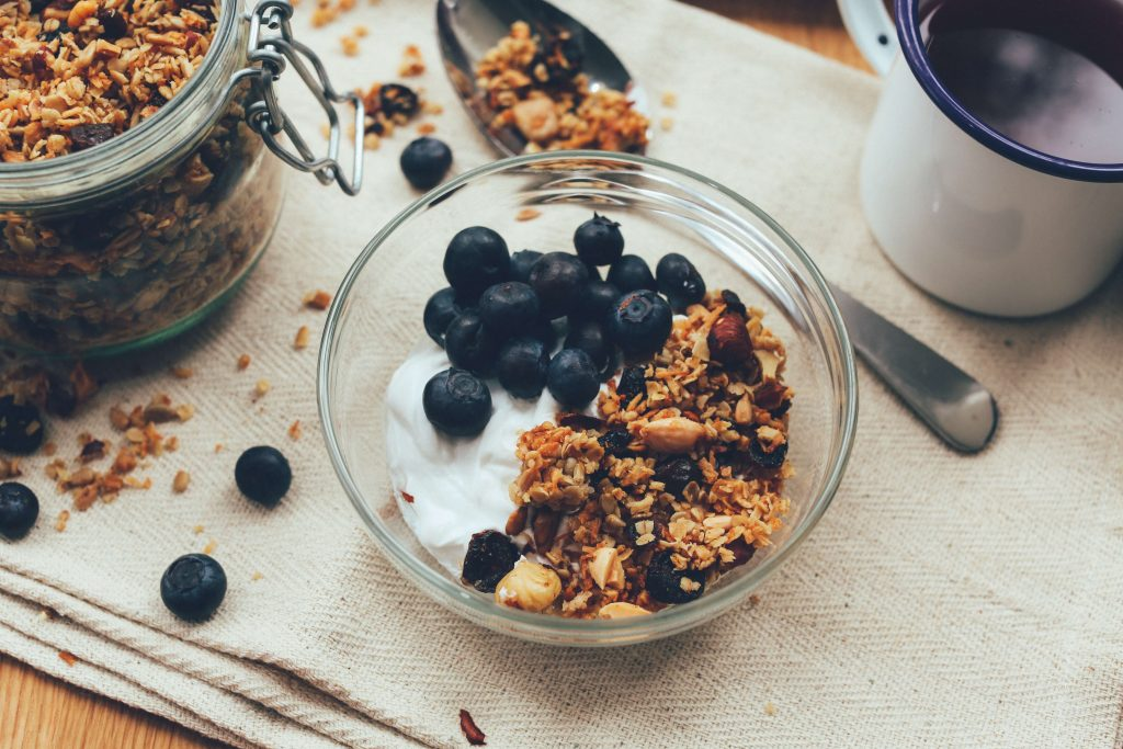 Yogurt cibo ricco di probiotici