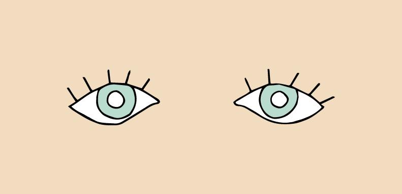 Olhos para baixo