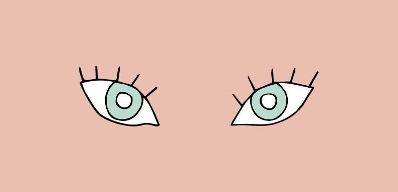 Olhos para cima