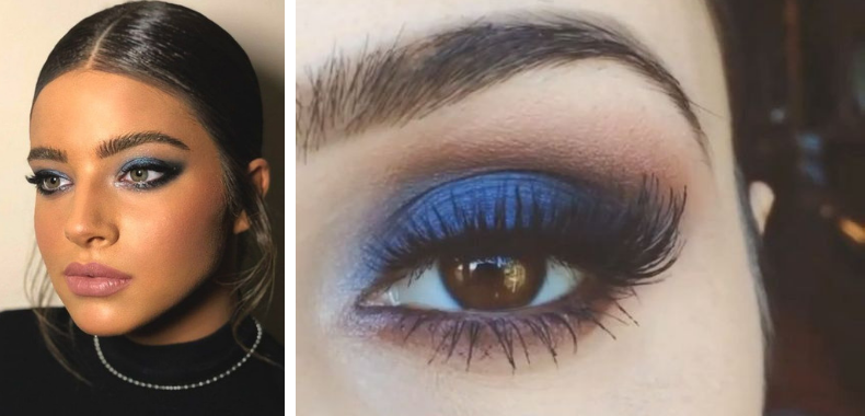 Immagini smokey eyes blu