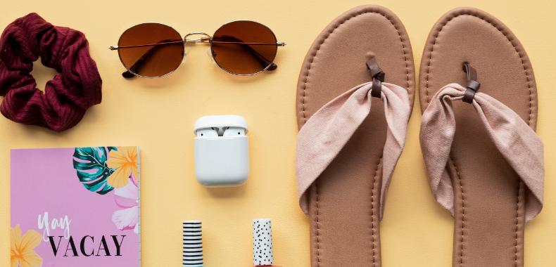 sandali valigia spiaggia