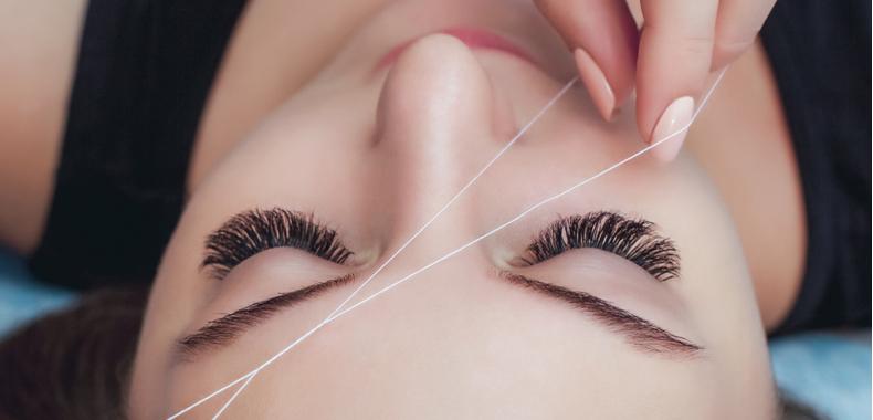 Sopracciglia depilazione filo