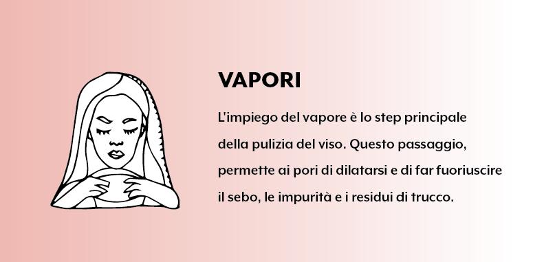 Vapori - pulizia del viso