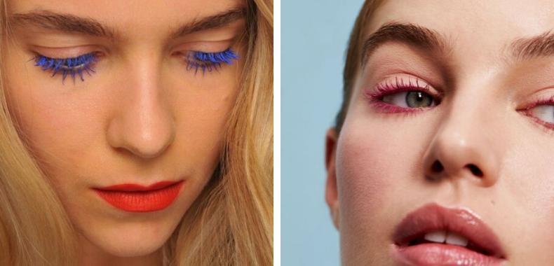 mascara colorato occhi azzurri