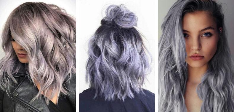 capelli argento lilla blu
