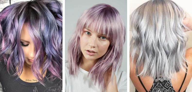 capelli argento metallici