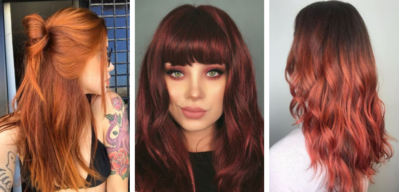 riflessante capelli rossi