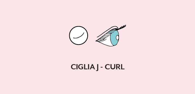Ciglia J-curl