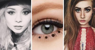 Dot make up: il trucco con i puntini sotto agli occhi